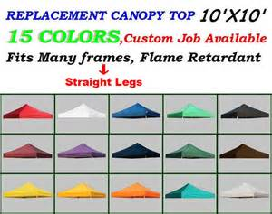 Pop Up Canopy Replacement Cover by New 10x10 Replacement Instant Ez Pop Up Canopy Top Cover