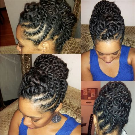 Twist Updo Hairstyles For Americans by American Flat Twist Updos Hairstylegalleries
