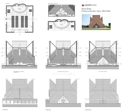House Plan Drawings Mario Botta Chiesa A Seriate Drawings Plan