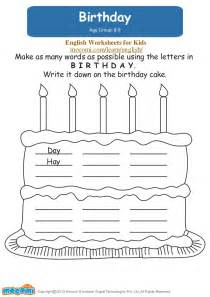 Worksheets For Kindergarteners by Birthday Worksheets For Mocomi