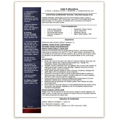 Resume Templates Word For Teachers Free Resume Templates Microsoft Word