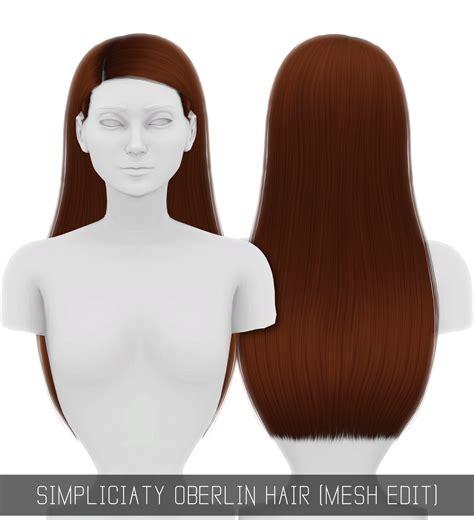 simplicity hair cc sims 4 oberlin hair mesh edit sims 4 cc pinterest sims