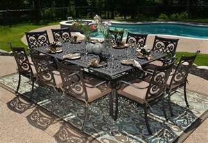 Rst Patio Furniture All Welded Cast Aluminum Patio Furniture Dining Set W