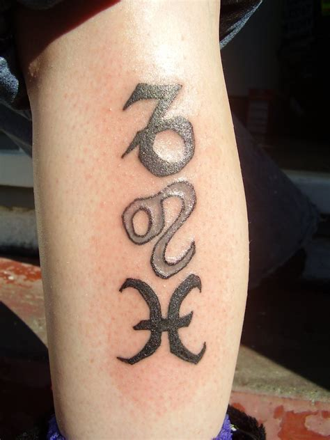 leo and pisces tattoo capricorn leo and pisces zodiac sign tattoos