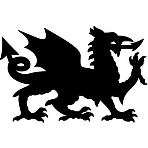 Musical Wall Stickers welsh dragon wall sticker wales symbol wall decal united
