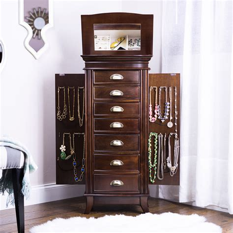armoire jewelry hillary jewelry armoire rich walnut hives and honey