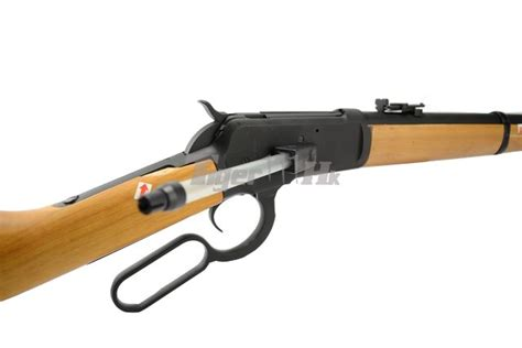 Airsoft Gun Winchester A K Metal Real Wood Winchester M1892 Airsoft Gas Rifle