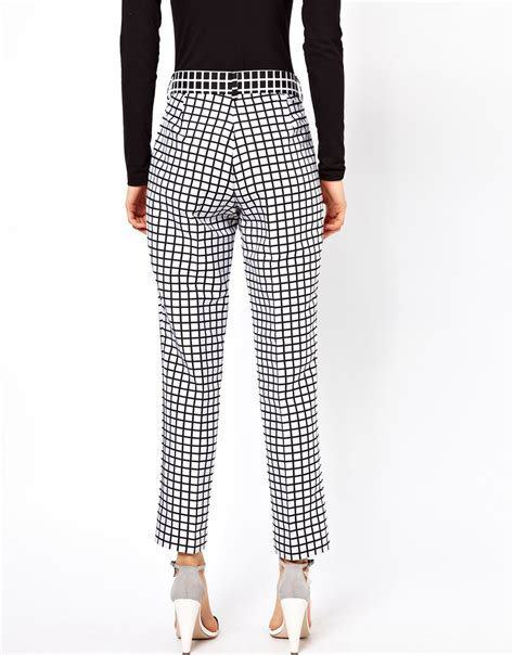 Trousers List trousers in monochrome check shopping s