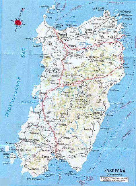 sardinia map images sardinia map