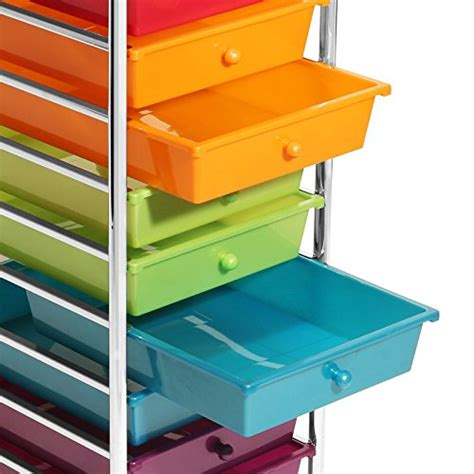 Seville 10 Drawer Cart by Seville Classics 10 Drawer Organizer Cart Pearlescent