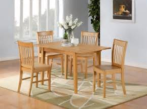 Kitchen Dining Table 5pc Norfolk Rectangular Dinette Kitchen Dining Table With 4 Chairs In Oak Ebay