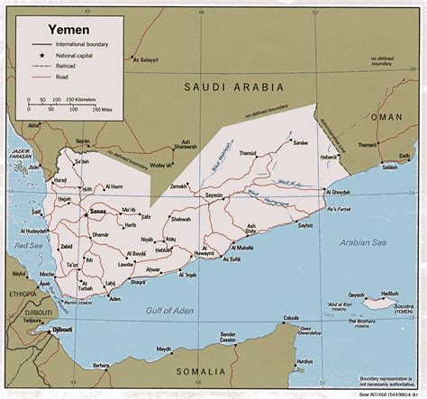 printable map of yemen interopp org political map of yemen large 1991