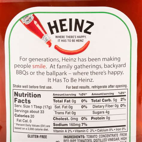 heinz design label heinz ketchup 20 oz upside down squeeze bottle