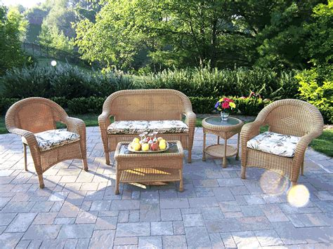 resin wicker patio furniture 6pc all weather resin wicker