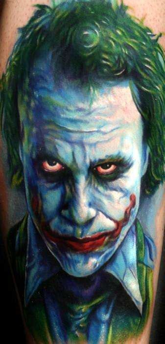 joker tattoo portrait heath ledger joker portrait tattoo