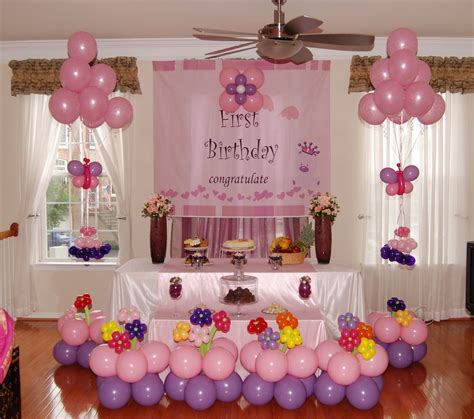 home decoration for 1st birthday party first birthday decoration ideas at home for girl beautiful