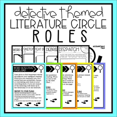 theme literature circle literature circle roles detective themed by teaching and