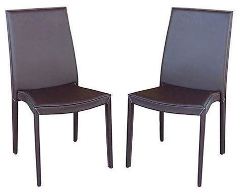 italian calligaris leather chairs a pair modern