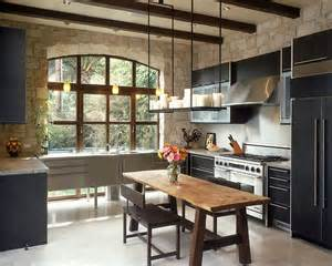 Stone Kitchen Design by 30 Inventive Kitchens With Stone Walls