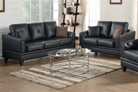 black couch set black leather sofa and loveseat set steal a sofa furniture