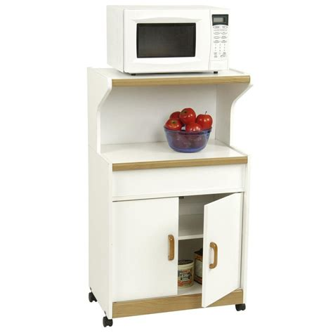 Home Depot Microwave Drawer by Altra Furniture 24 88 In W Deluxe Microwave Kitchen Cart 4574gm The Home Depot
