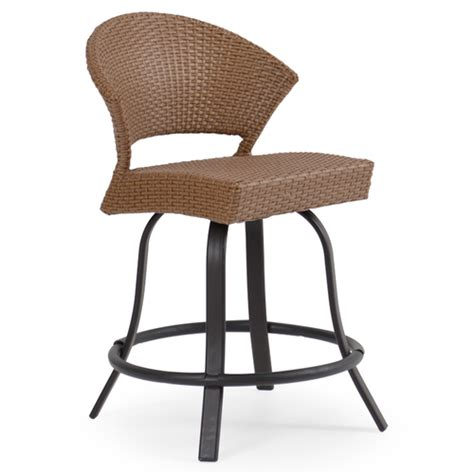 Counter Height Patio Stools by Empire Patio Wicker Counter Height Stool Cork For Sale