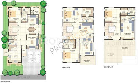 villa siena floor plans 4691 sq ft 4 bhk 6t villa for sale in bscpl infrastructure