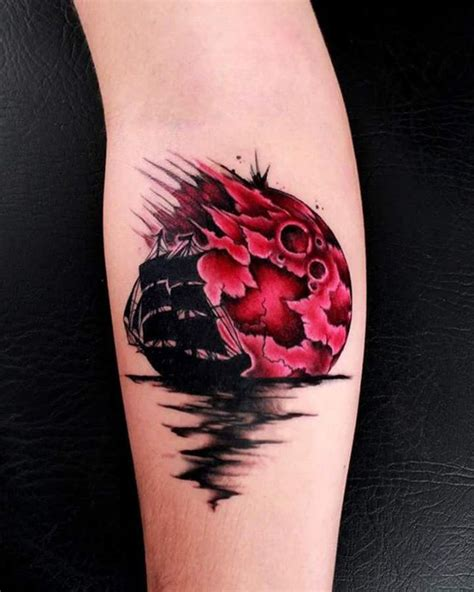 red moon tattoo bloodmoon