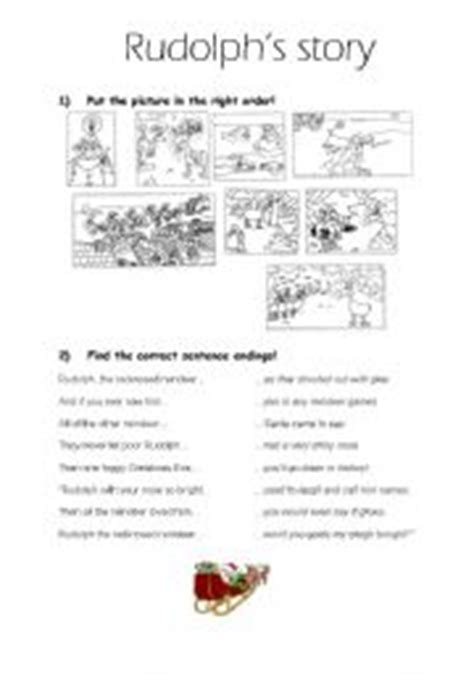 Printable Reindeer Story | english teaching worksheets rudolph the red nosed reindeer