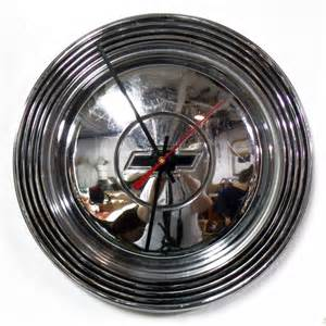 1965 1966 chevy bel air hubcap clock chevrolet by starlingink