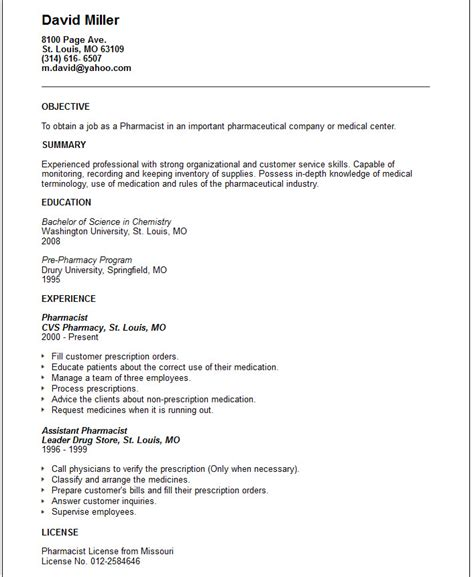Nursing & Medical Resume Examples