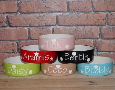 personalised bowls personalised ceramic polka dots cat bowls chelsea cats