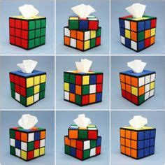 flower pattern on rubik s cube tissue box cover plastic canvas and needlepoint on