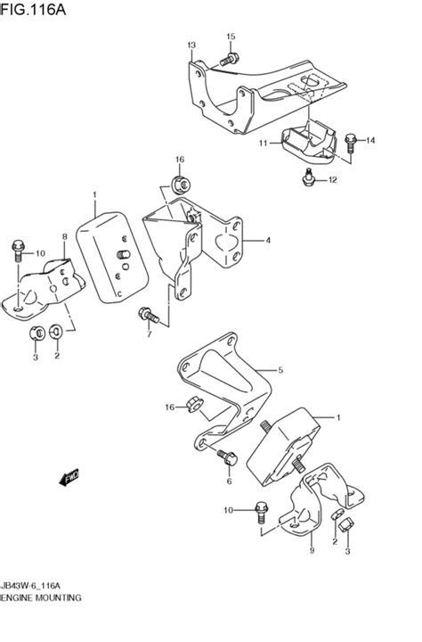 Suzuki Jimny Parts Catalogue Engine Mounting For Suzuki Jimny Jb43w 2008 2011
