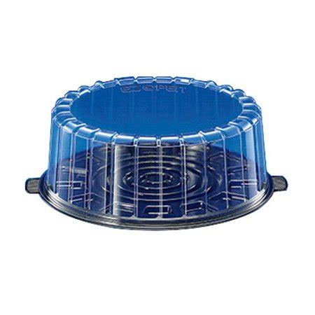 10 inch plastic cake container dome lid inline plastics ez open single layer cake container with