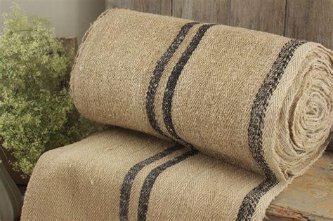 vintage table stair runner grain sack fabric yardage