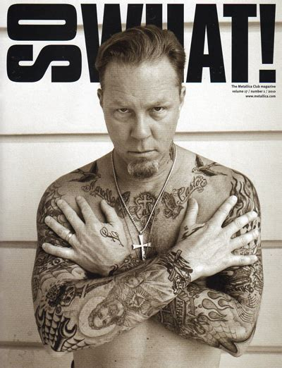 hetfield still adding ink designs