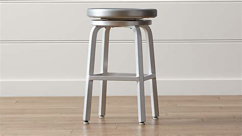 Spin Swivel Backless Bar Stool by Spin Swivel Backless Counter Stool Crate And Barrel