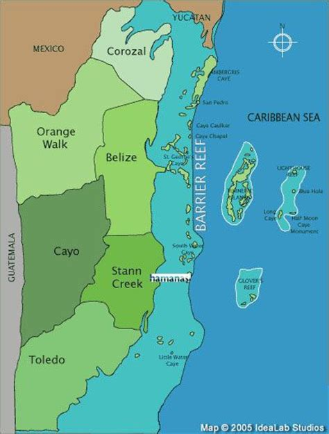 tourist map of belize map of belize belize vacations belize travel mayan