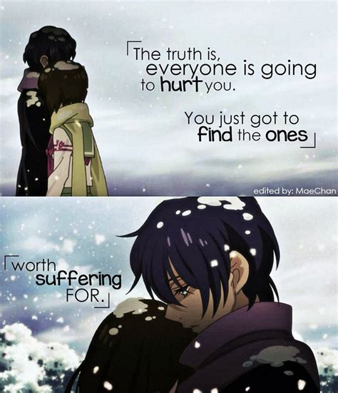 anime quotes about love yep i think i found the one i would suffer for if she