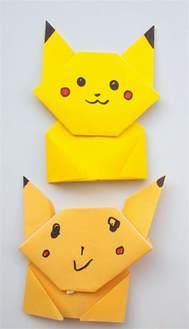 Pikachu Origami - easy origami pikachu tutorial pink stripey socks