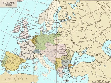 european map 1914 maps a map of europe in 1914
