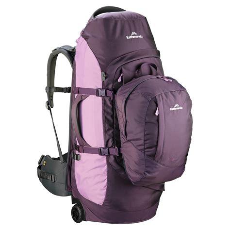 kathmandu terrane 70l wheeled trolley backpack luggage tavel wheels daypack new ebay