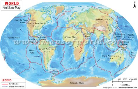 map us fault lines buy world map of fault lines
