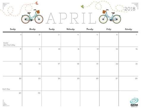 april 2018 decorative calendar printable georgiagrown org