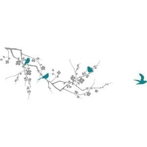 birds on a branch tattoo cherry blossom branch and birds wall decal from etsy