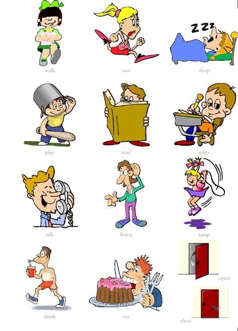 imagenes ingles verbos verbos en ingl 233 s con dibujos imagui