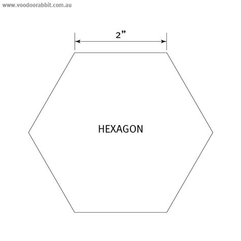 best photos of 4 inch hexagon template 3 4 inch hexagon