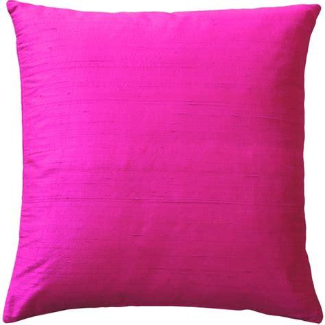 Silk Throw Pillows by Sankara Fuchsia Pink Silk Throw Pillow 20x20