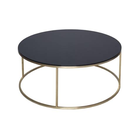 black metal and glass coffee table buy black glass and metal circular coffee table from